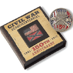 Sesquicentennial Civil War Commemorative Coin Box