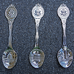 Washington DC Silver Souvenir Spoon Set