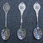 Washington DC Silver Souvenir Spoon Set