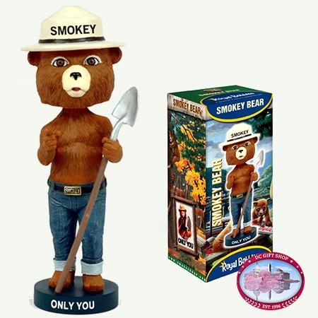 Smokey Bear BobbleHead Toy