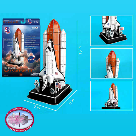 Nasa Space Shuttle 3D Puzzle On Launch Pad