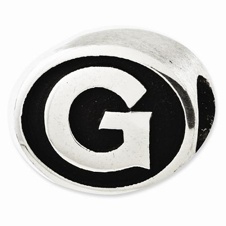 Sterling Silver Antiqued Georgetown University Collegiate Bead
