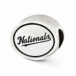 Sterling Silver Antiqued Washington Nationals MLB Bead