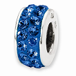 Sterling Silver Reflections Blue Double Row Swarovski Elements Bead