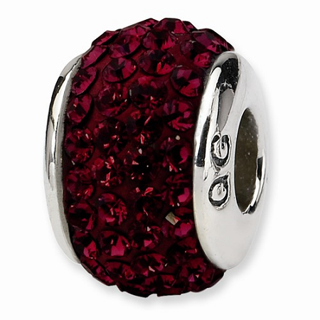 Sterling Silver Reflections Crimson Full Swarovski Elements Bead