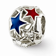 Sterling Silver Reflections Enameled Stars Bead