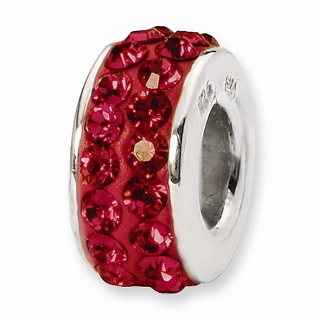 Sterling Silver Reflections Scarlet Double Row Swarovski Elements Bead