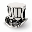 Sterling Silver Reflections Uncle Sam Tophat Bead