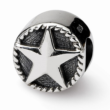 Sterling Silver Reflections Star Bead