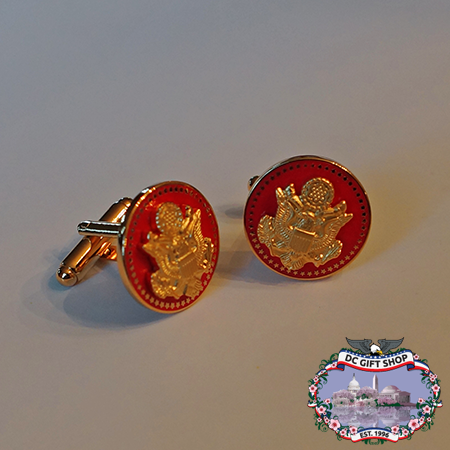 The Great Seal Cufflinks - Red