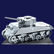 The Sherman Tank 3D Laser Cut Model