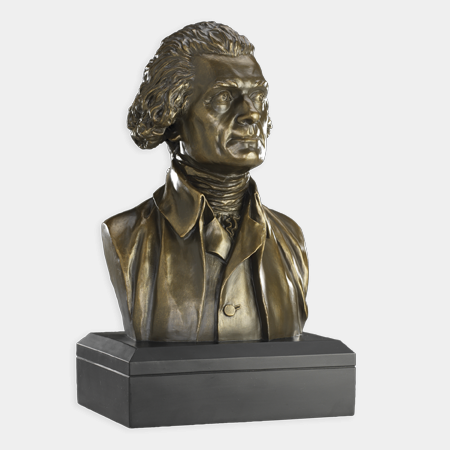 "Thomas Jefferson 6"" Bronze Bust"