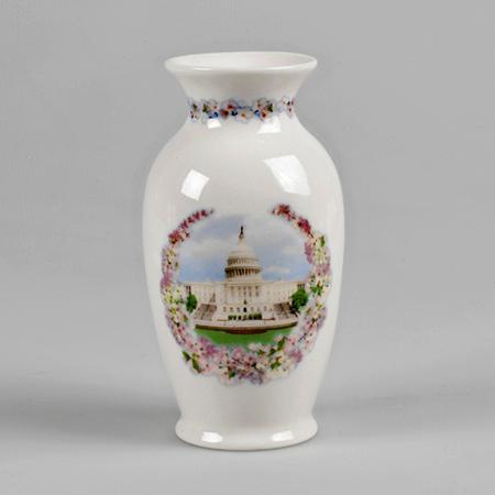 U.S. Capitol Cherry Blossom Porcelain Vase