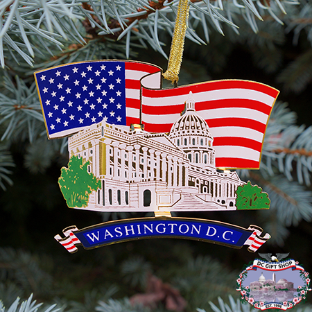 US Capitol Flag Ornament