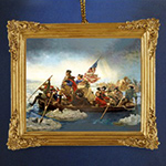 Washington Crossing The Delaware Framed Ornament