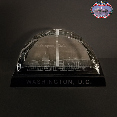 Washington DC 3D Laser Glass Landmarks Paperweight