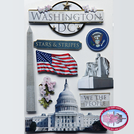 Washington DC 3D Sticker Set