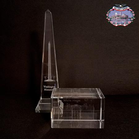 Washington DC Glass Paperweight Set
