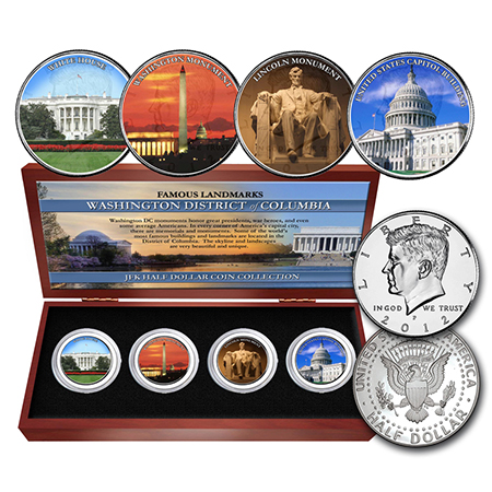 Washington DC Landmarks Four Coin