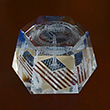Washington DC Laser 3D Glass Hexagon Paperweight