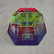 Washington DC Rainbow Glass Hexagon Paperweight