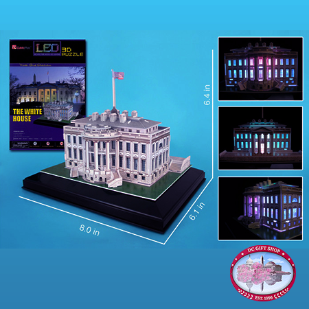 White House 3D Puzzle With Base And Lights