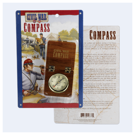 American Civil War Wood Compass