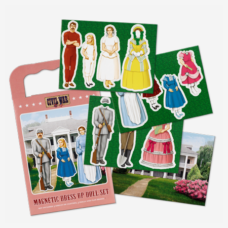 The Confederate Family Magnetic Dress Up Doll Kit